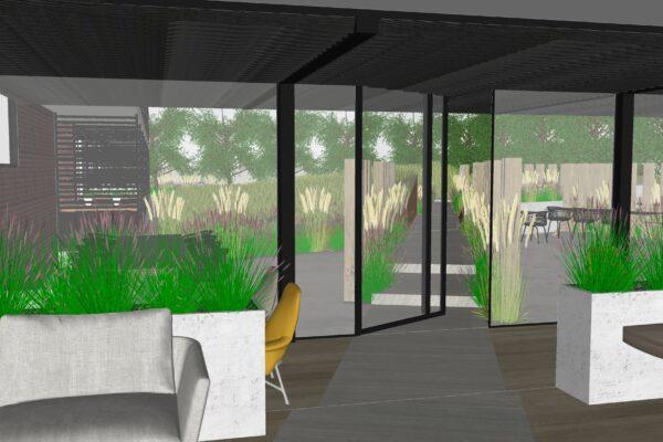 duindoornflat presbeeld - sfeer restaurant tuin
