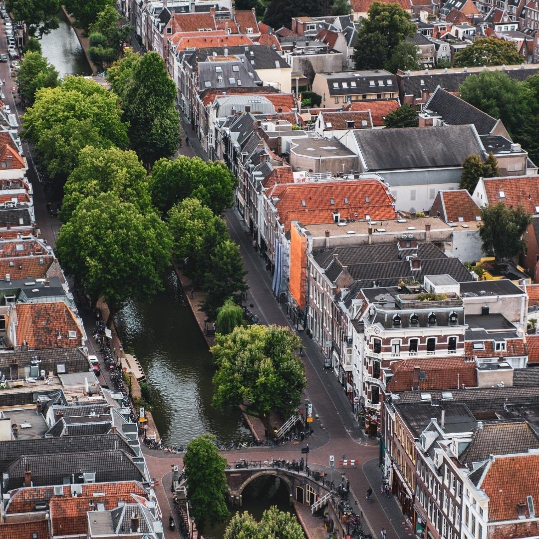 stads groen foto gemaakt vanuit de lucht